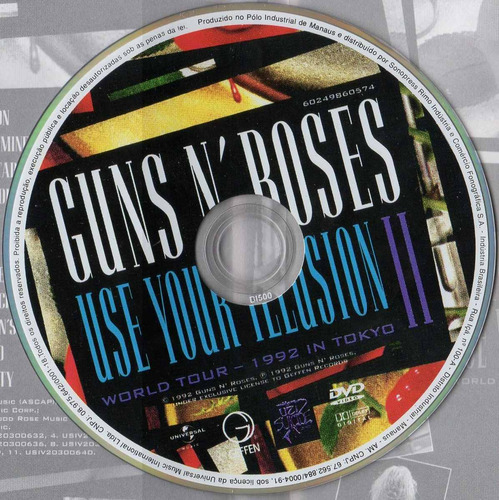dvd guns n' roses - use your illusion 2
