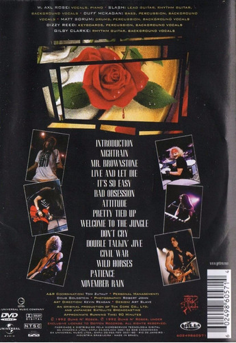 dvd guns n roses - use your illusion i - 1 - orig lacr rock