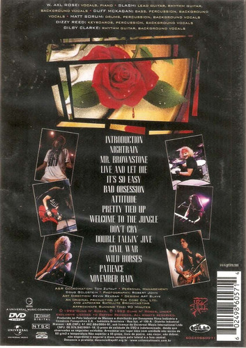 dvd guns n' roses - use your illusion i - novo***