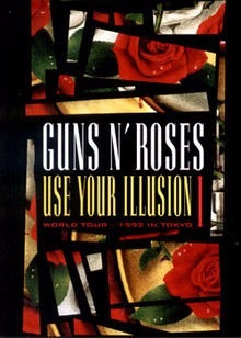 dvd guns n' roses - use your illusion i - original e lacrado