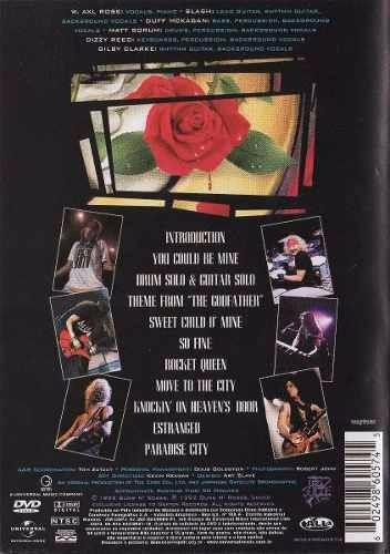 dvd guns n roses - use your illusion ii - 2 orig lacr rock
