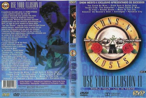 dvd guns n roses use your illusion ii 2 perfeito estado