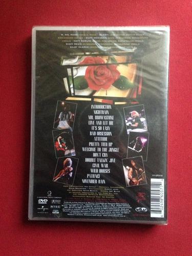 dvd - guns n' roses - use your illusion - vols. 1 e 2 - novo