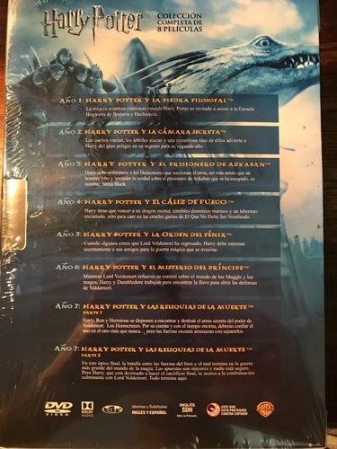 dvd harry potter coleccion / incluye 8 films