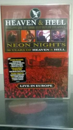 dvd heaven & hell - neon nights live in europe