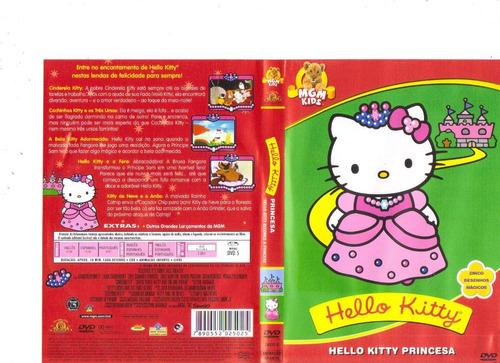 dvd hello kitty princesa - animação infantil - original