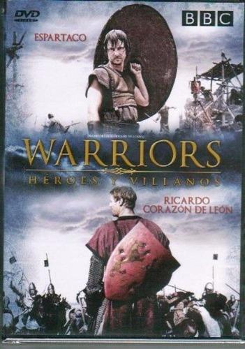 dvd héroes y villanos / espartaco - corazón de león / bbc