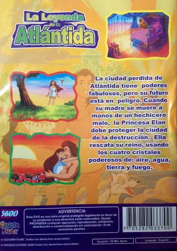 dvd  historia infantil animados la leyenda de la atlántida
