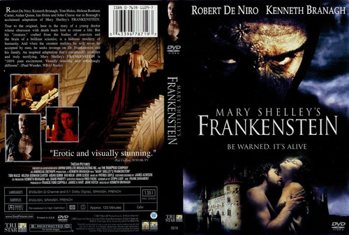 dvd horror gore clasica frankenstein de mary shelley deniro