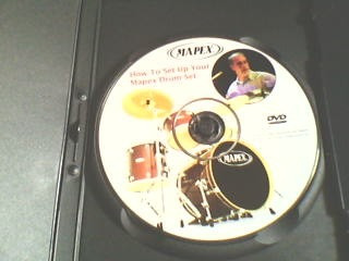dvd  how to set-up your mapex drum set  (importado)