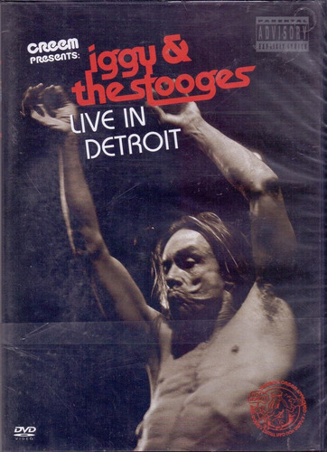 dvd iggy & the stooges - live in detroit - novo***