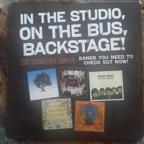 dvd in the studio, on the bus, backsatge
