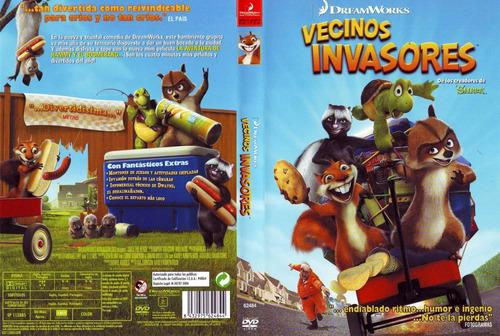 dvd infantil vecinos invasores over the hedge niños tampico