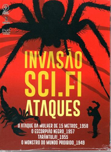 dvd invasao sci-fi ataques - opc - bonellihq b19