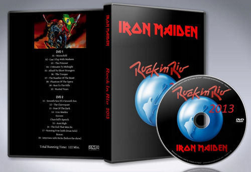 dvd iron maiden - rock in rio brazil 2013