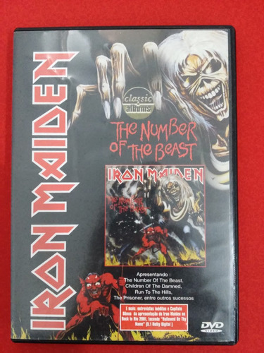 dvd - iron maiden - the number of the beast