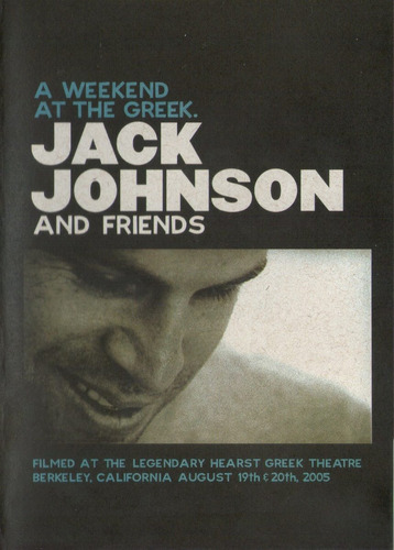 dvd jack johnson and friends - a weekend at the greek.