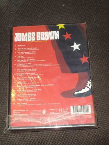 dvd james brown live at chastain park año 2004 apertura