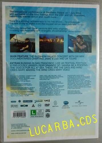 dvd - jamie cullum - live at blenheim palace - lacrado