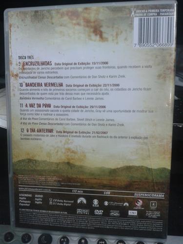 dvd - jericho - a primeira temporada  disco 3