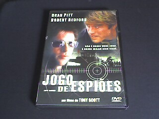 dvd jogo de espiões - brad pitt e robert redford
