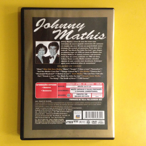 dvd johnny mathis . johnny mathis - 1982