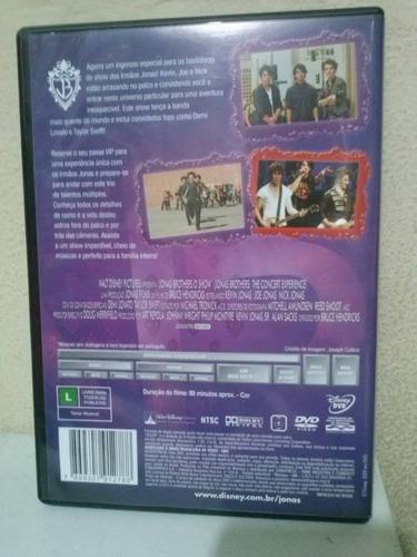 dvd - jonas brothers o show - versão estendida