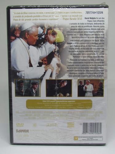 dvd joão paulo ii - john voight christopher lee - lacrado