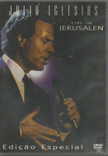 dvd - julio iglesias - live in jerusalen - ed. especial- lac