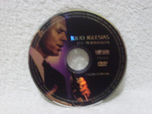 dvd julio iglesias- live in jerusalen- edição especial