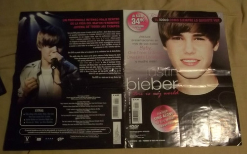 dvd justin bieber  this is my world