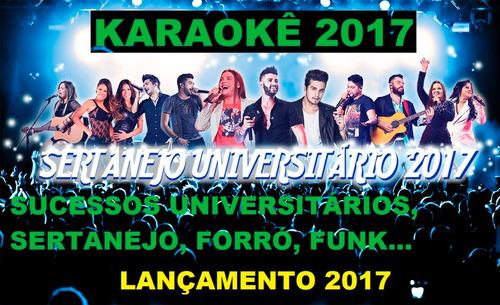 dvd karaokê sertanejo universitário 2017 lançam frete grátis