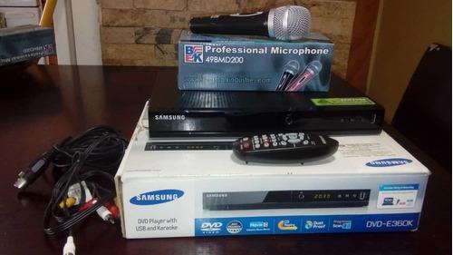 dvd karaoke player con usb samsung con microfono  incluido