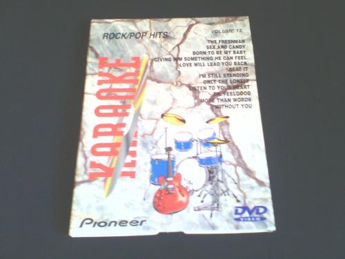 dvd  karaoke - rock pop/hits - vol 12  (importado) - raro