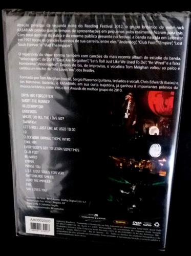 dvd kasabian - live at reading festival 2012 - lacrado
