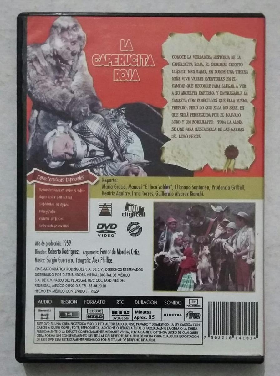 Dvd La Caperucita Roja Maria Gracia Manuel Valdez Luis Manue