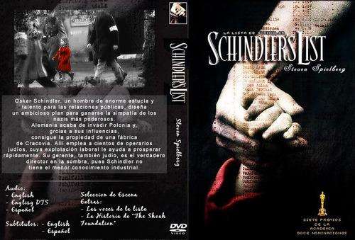 dvd la lista de schindler schindler's list nazi spielberg
