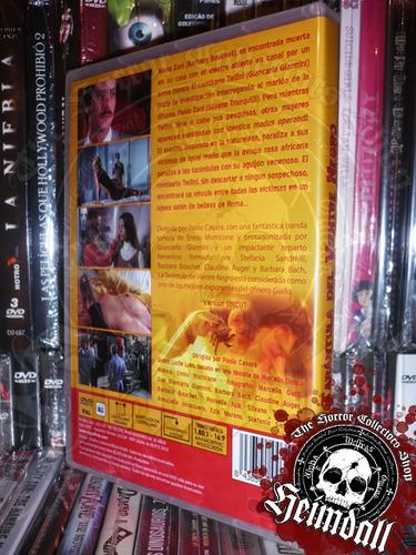 dvd la tarantula del vientre negro giallo gore español
