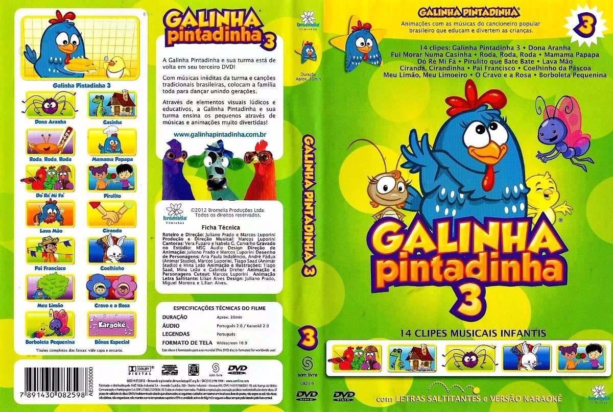 dvd gratis da galinha pintadinha e sua turma