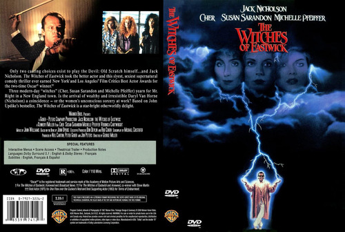 dvd las brujas de eastwick witches of jack nicholson tampico