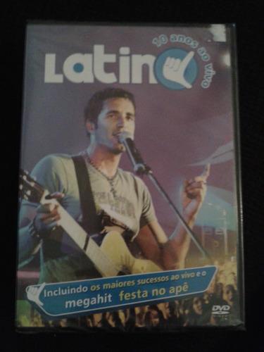 dvd latino - 10 anos ao vivo - lacrado de fabrica