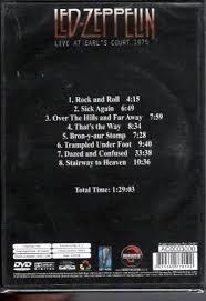 dvd led zepellin live at earls court  1975 lacrado . novo