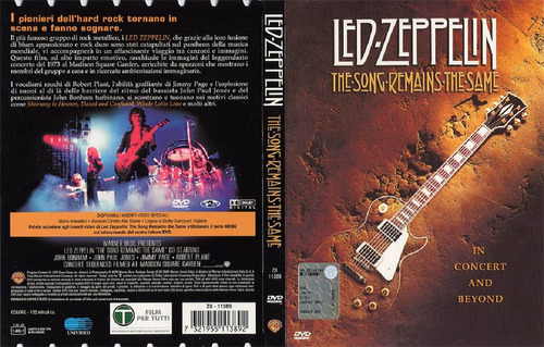 dvd led zeppelin pelicula the song remains the same tampico