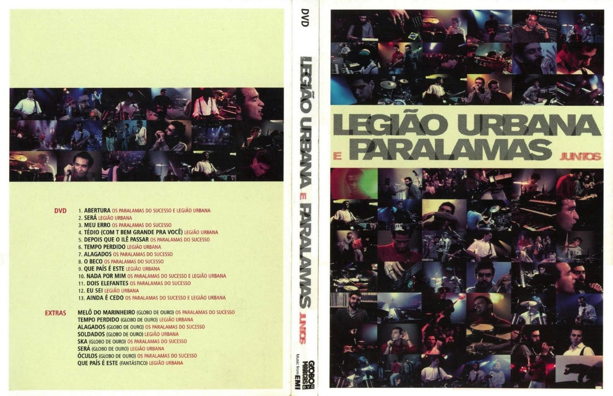 dvd legiao e paralamas
