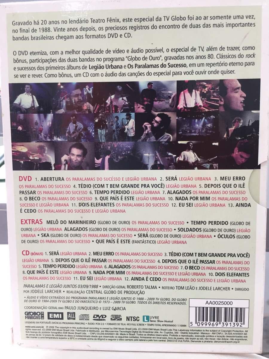 dvd legiao urbana e paralamas juntos