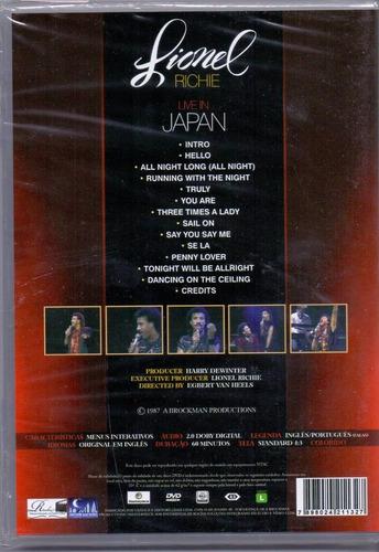 dvd lionel richie live in japan -novo -lacrado-original