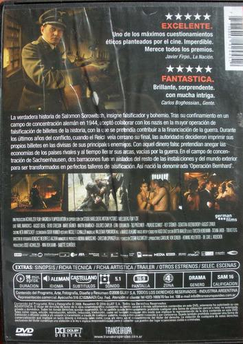 dvd - los falsificadores - sobre una historia real