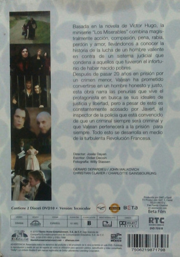 dvd los miserables