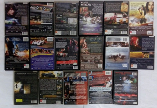 dvd lote filmes de corridas velozes racha sem limites