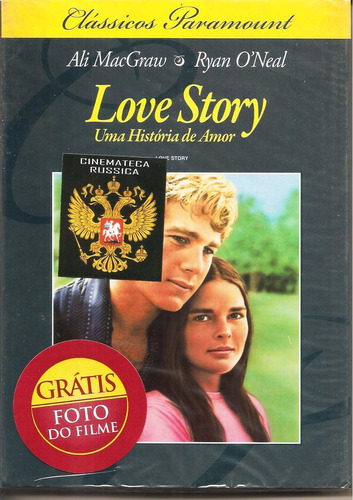 dvd love story, base em erich segal, c ryan o` neal, 1970  +